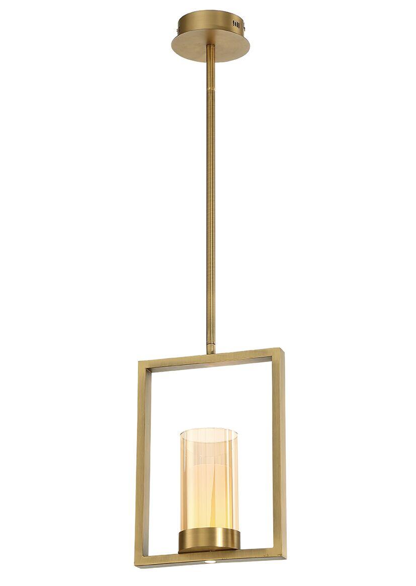 Hoerner 1-Light  LED Geometric Pendant Shade Color: Brass