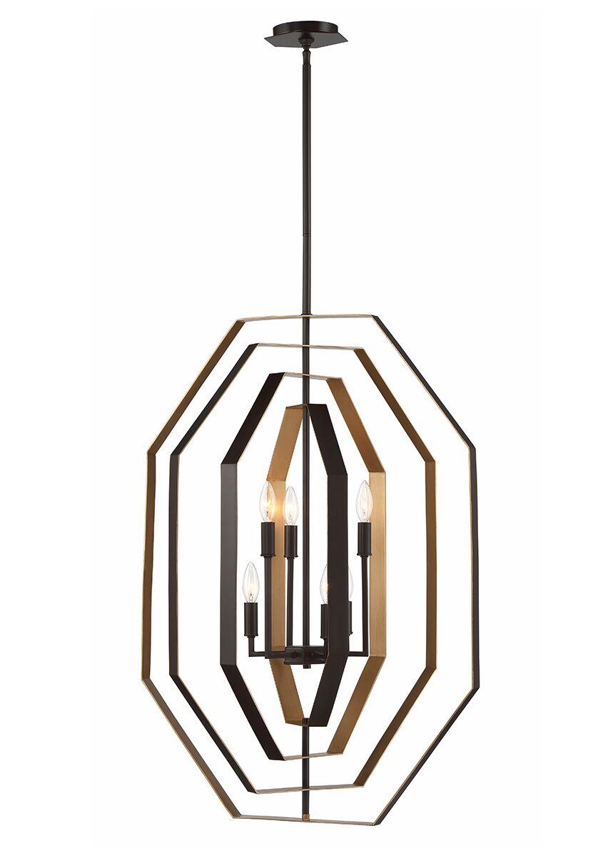 Morales Customizable 6-Light Geometric Chandelier