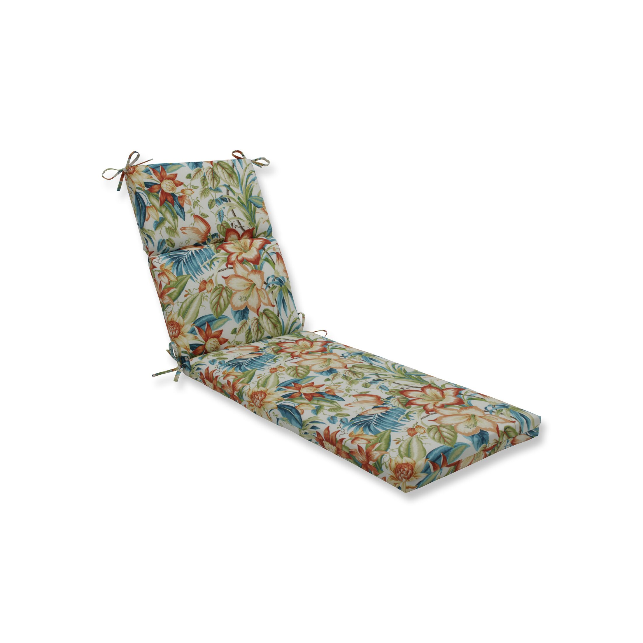 Botanical Glow Tiger Lily Outdoor Chaise Lounge Cushion