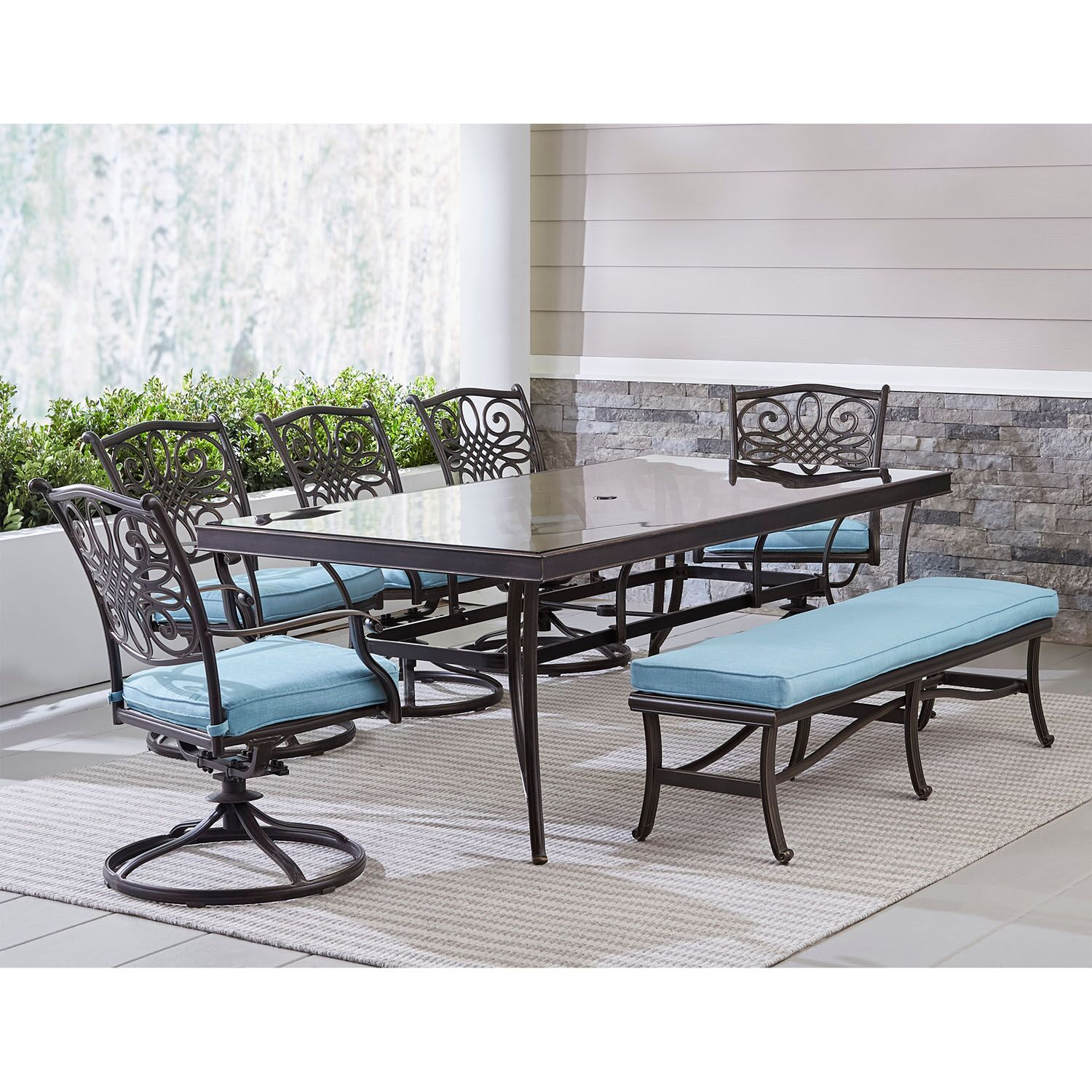Lauritsen Outdoor 7 Piece Dining Set
