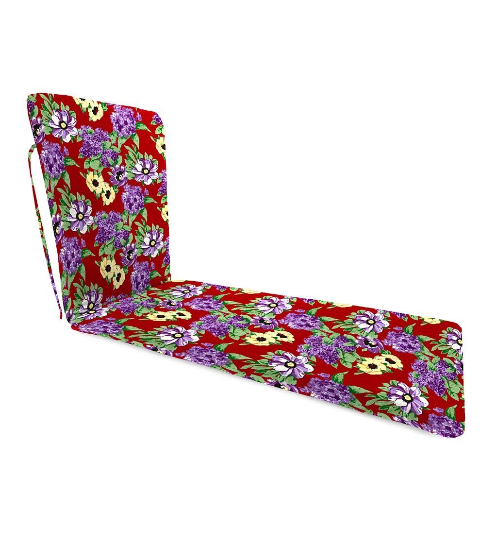 Chaise Lounge Cushion with Ties