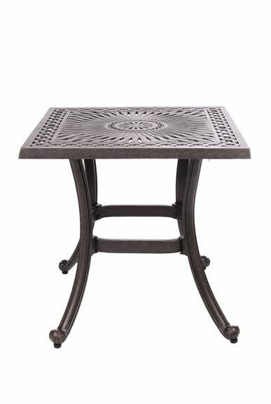 Chiasson Metal Side Table
