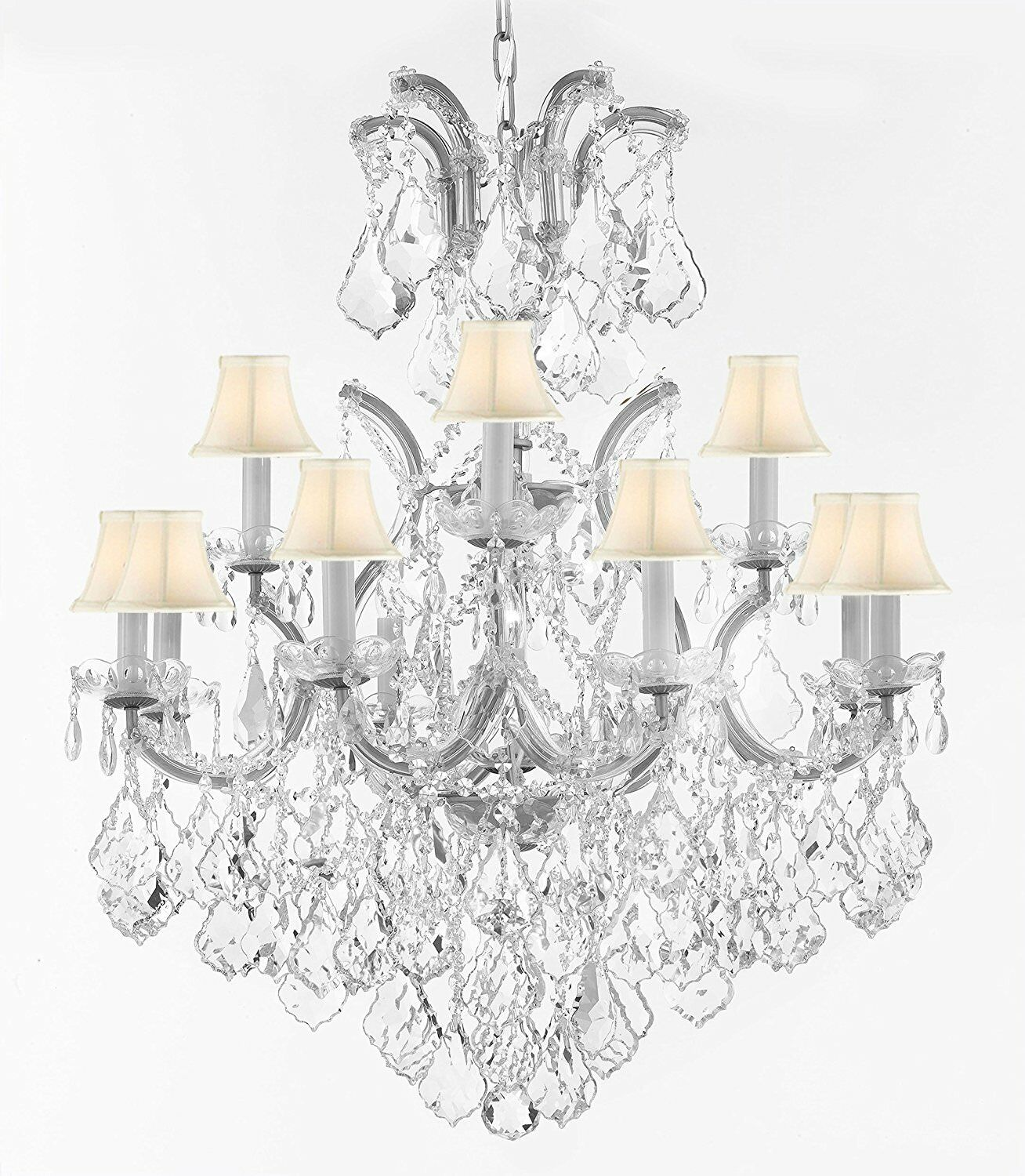 Lazaro 13-Light Shaded Chandelier Finish: Silver