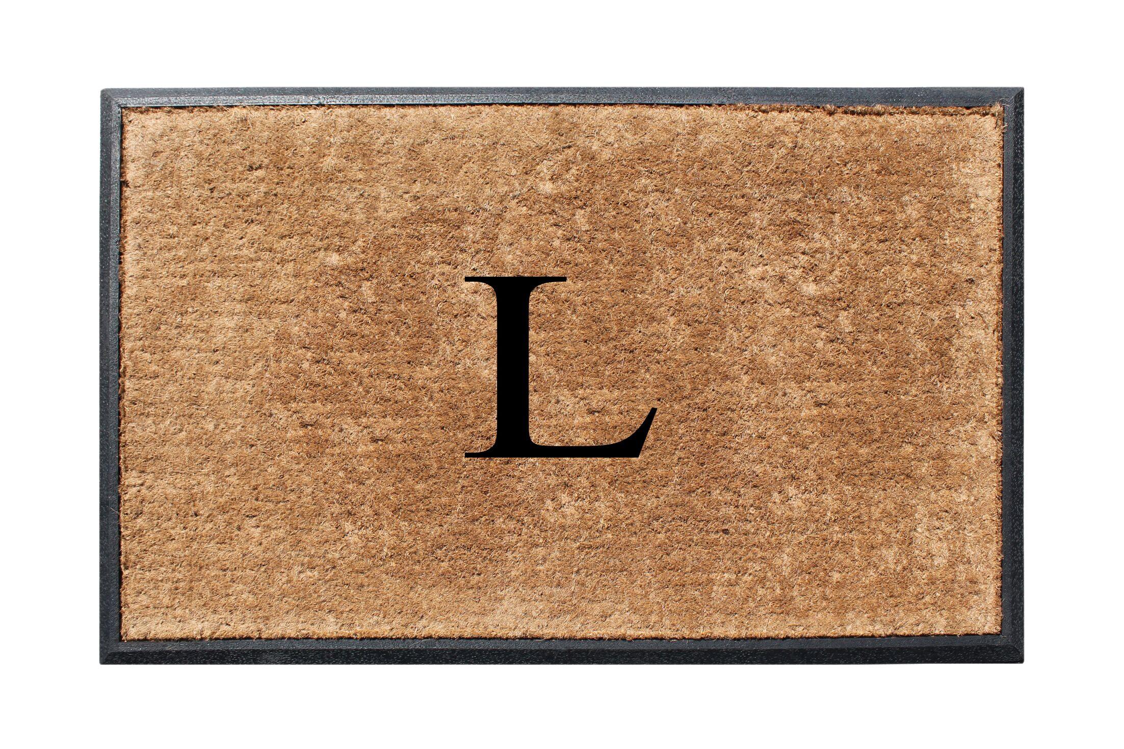 Fooks Molded Double Monogrammed Doormat Letter: L