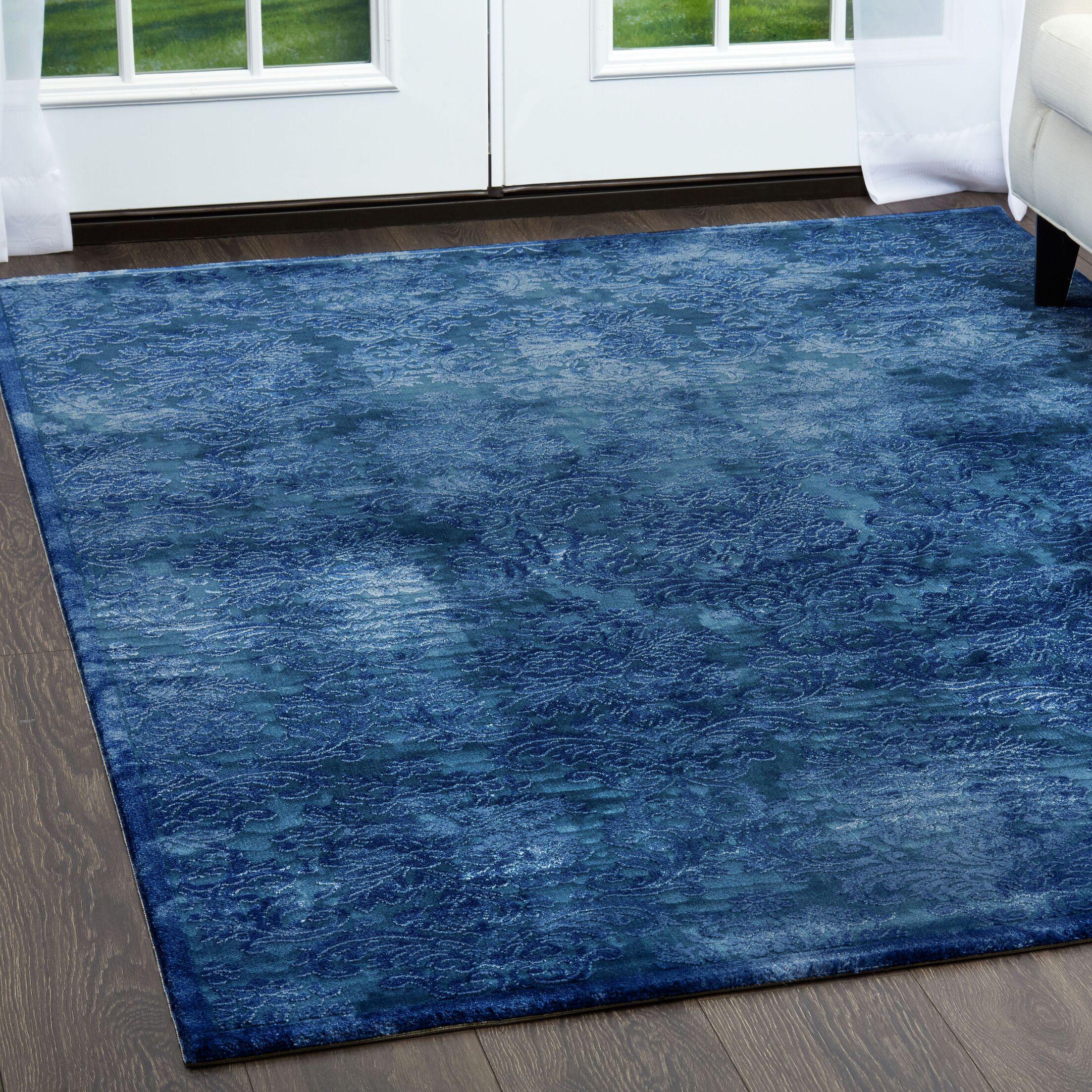 Kamen Blue Area Rug Rug Size: Rectangle 7'10