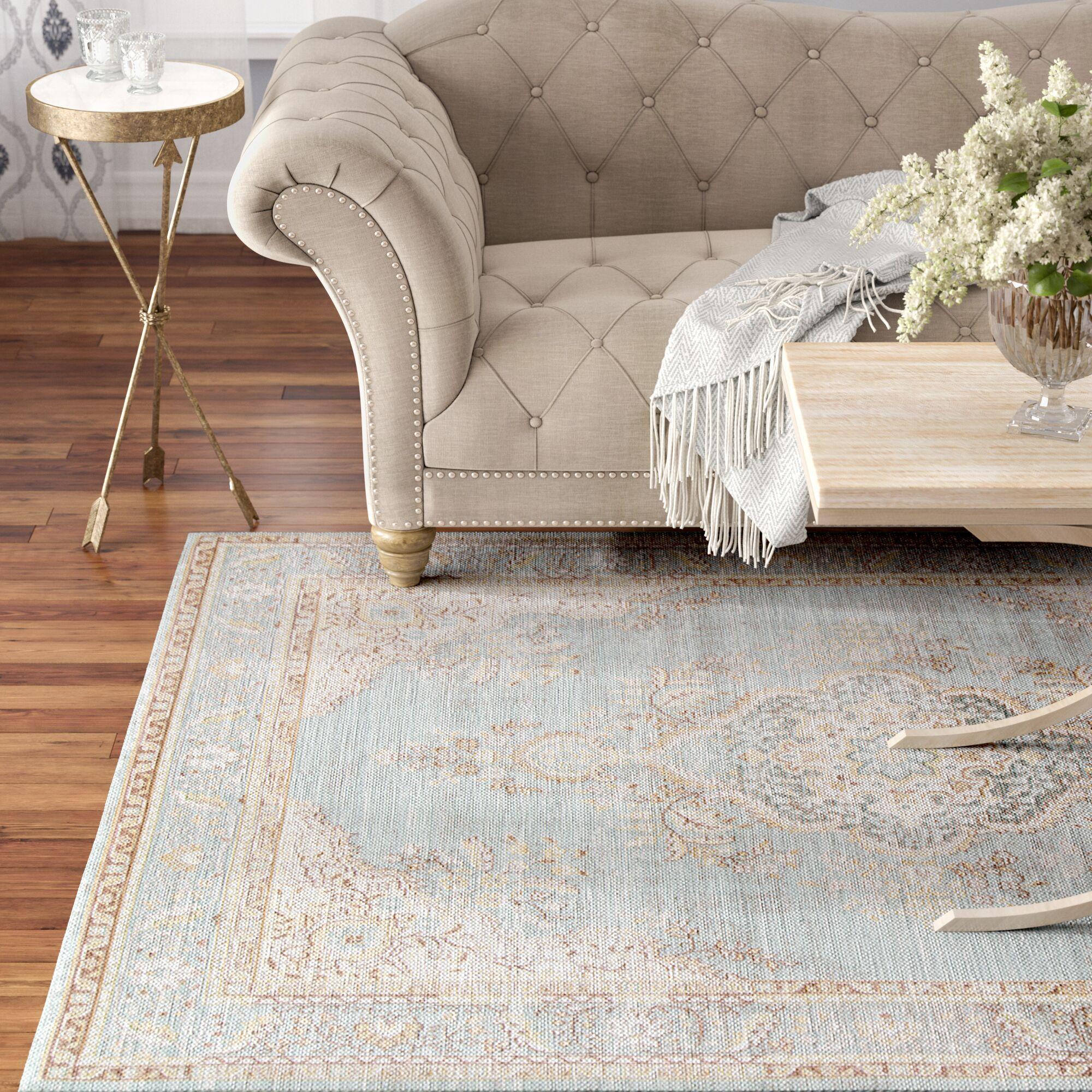 Sofian Blue Oriental Area Rug Rug Size: Rectangle 7'10