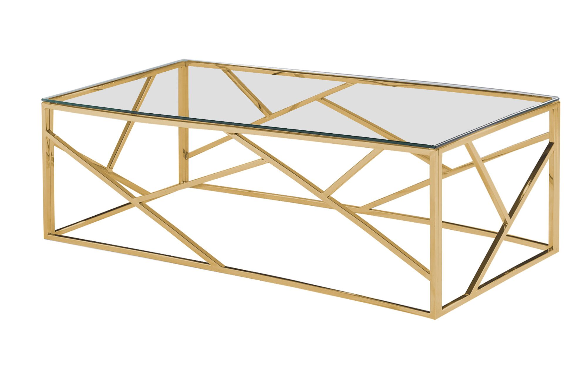 Jud Angled Coffee Table Table Base Color: Gold