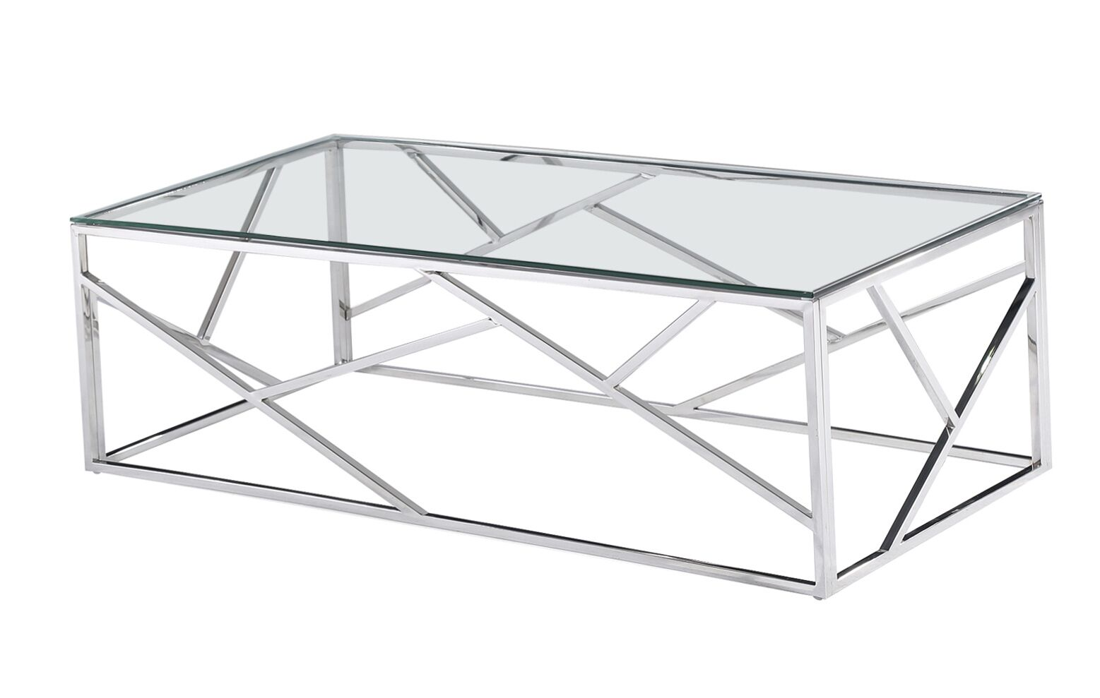 Jud Angled Coffee Table Table Base Color: Silver