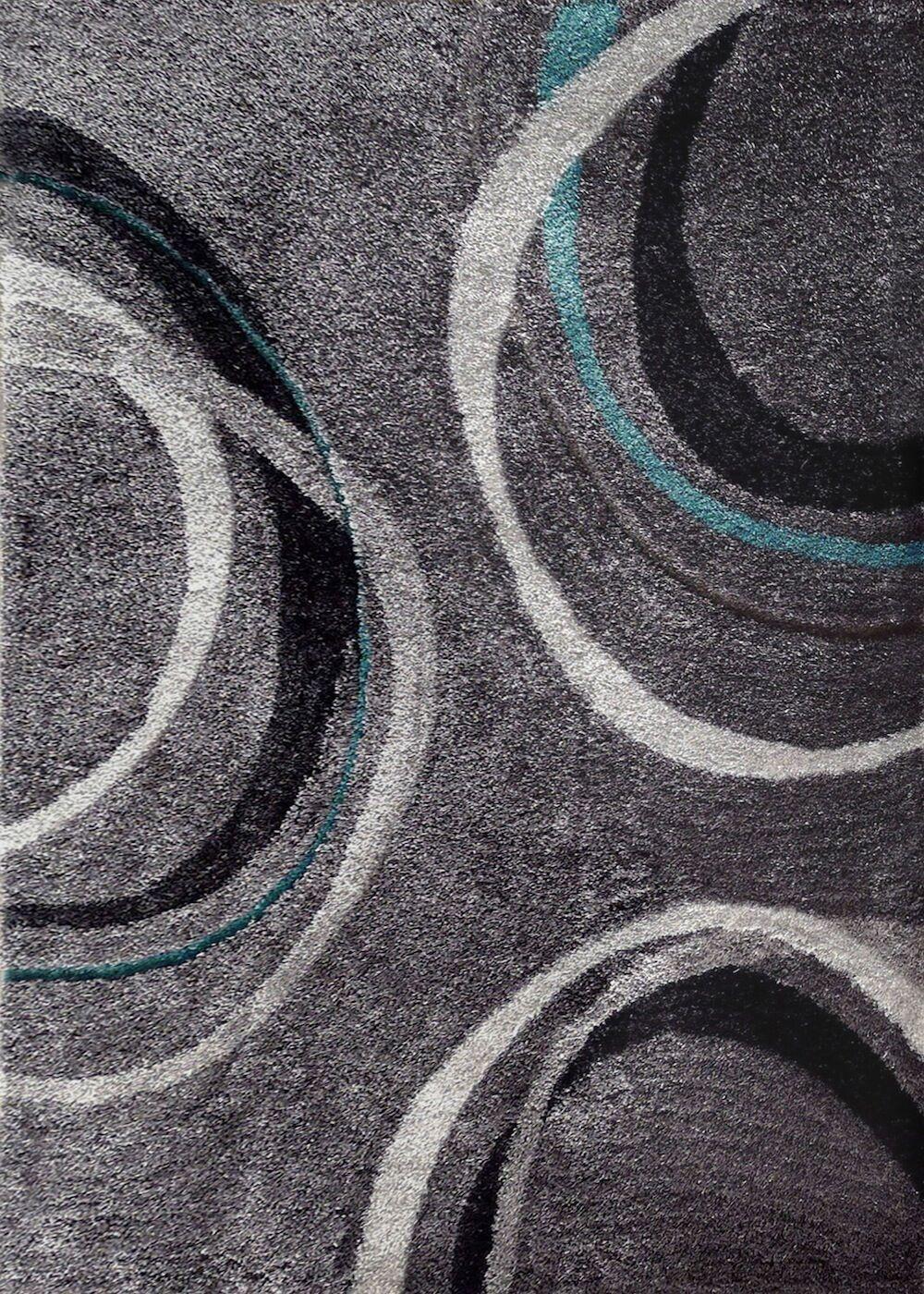 Wilke Geometric Shag Hand-Tufted Gray Area Rug