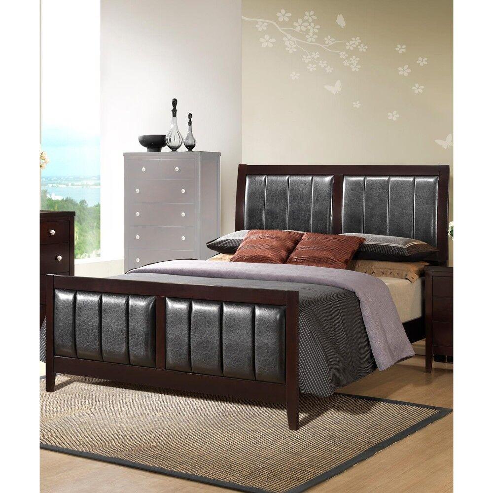 Dobrovinska Outstanding Upholstered Panel Bed Color: Antique Black, Size: California King