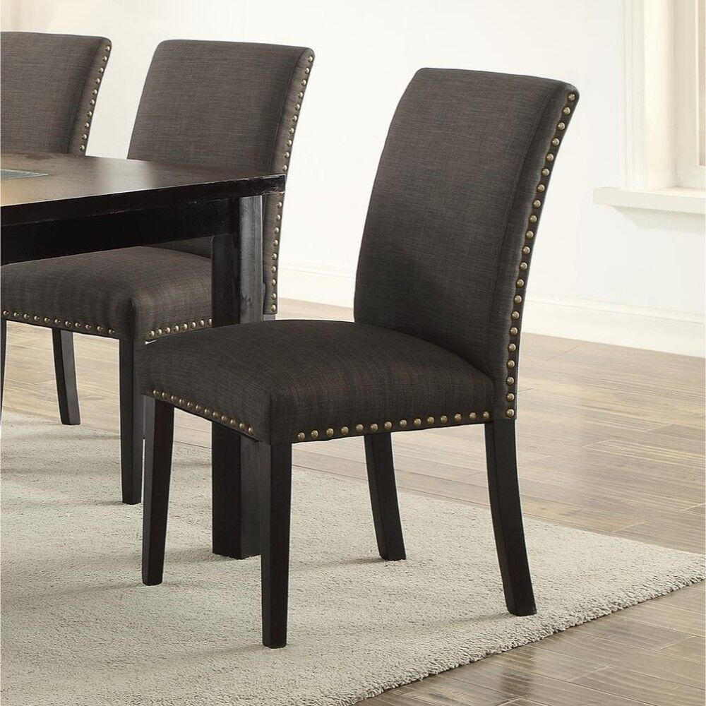 Roudebush Wooden Upholstered Dining Chair Upholstery Color: Ash Black