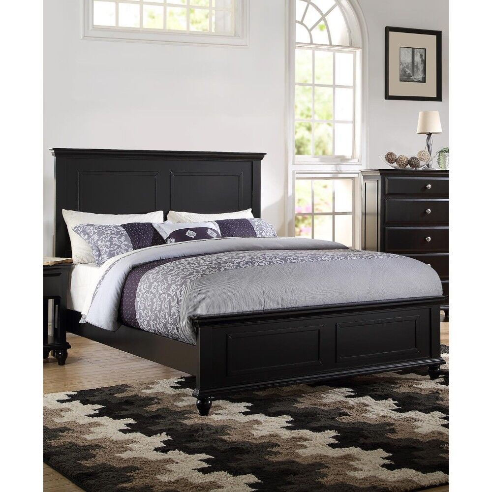 Gossman Seamless Panel Bed Color: Black, Size: Queen