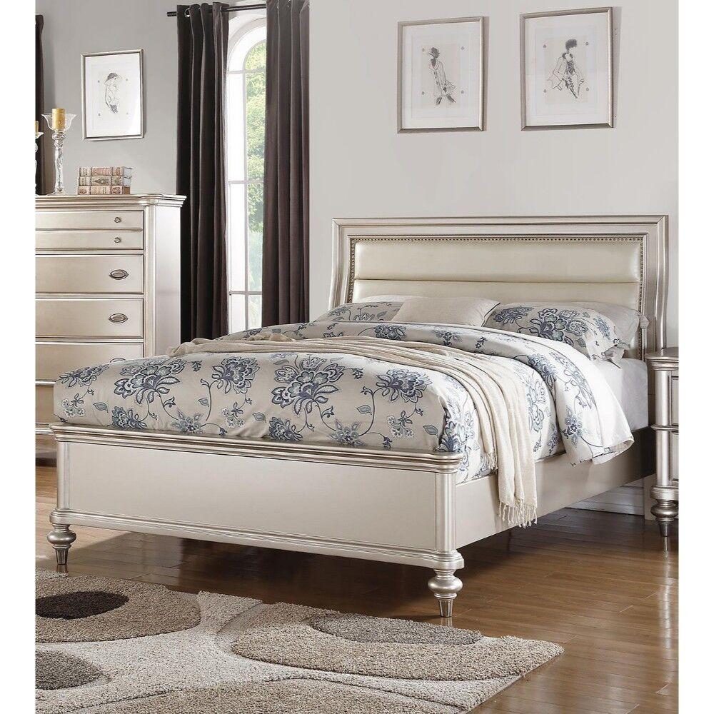 Louane Wooden Upholstered Panel Bed Size: Eastern King, Color: Silver