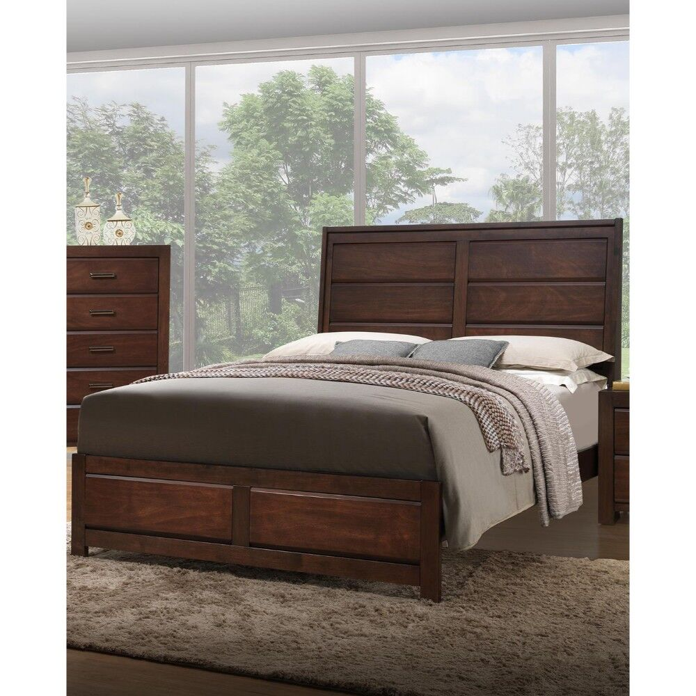 Mittler Immaculate Wooden Panel Bed Size: California King, Color: Walnut