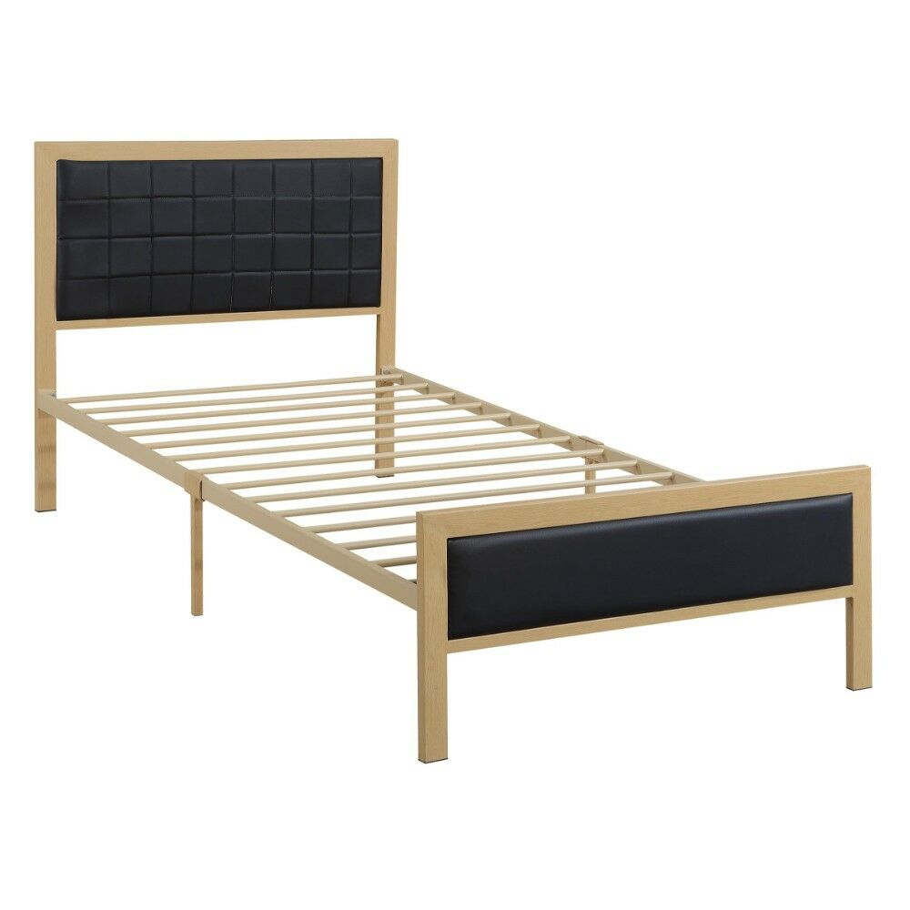 Lineberry Panel Bed Color: Black, Size: Twin