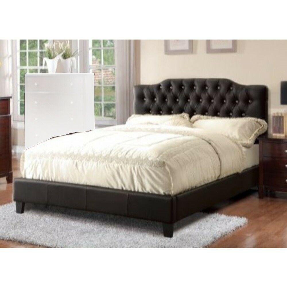 Enloe Wooden Upholstered Platform Bed Color: Black, Size: Queen