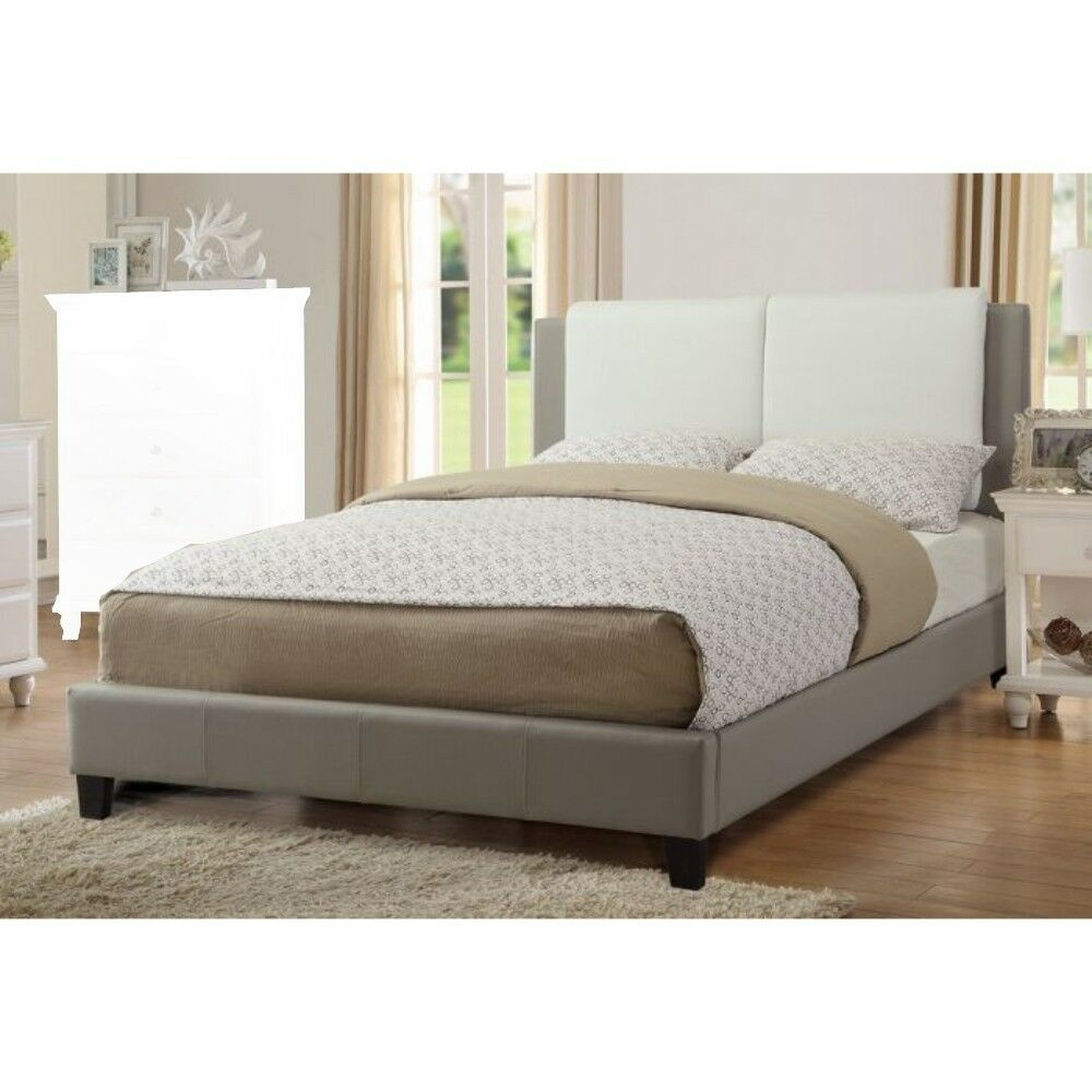 Kist Wooden Upholstered Panel Bed Color: Gray, Size: Queen