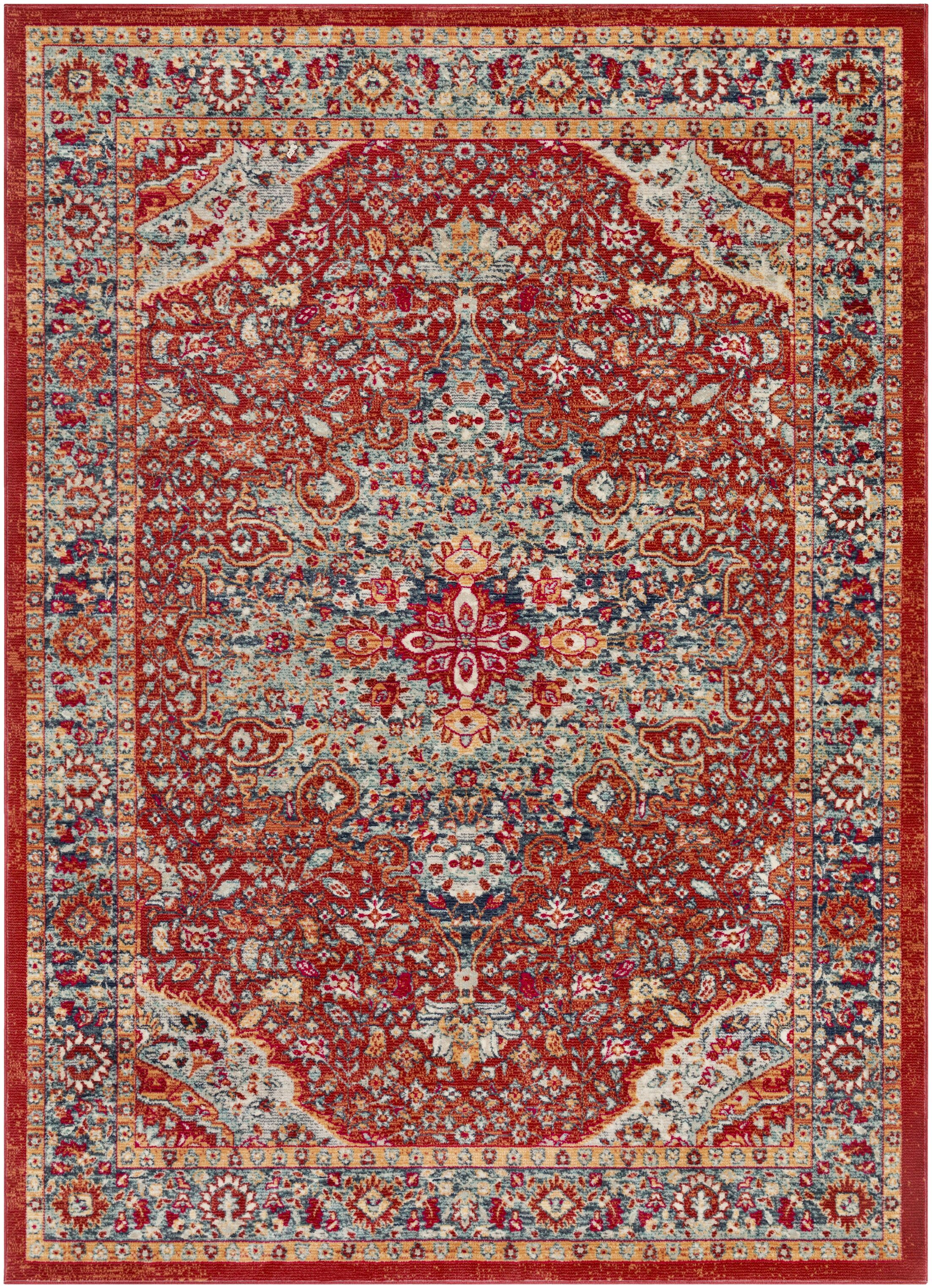Raminez Vintage Oriental Burnt Orange/Teal Rug Rug Size: Runner 2'11