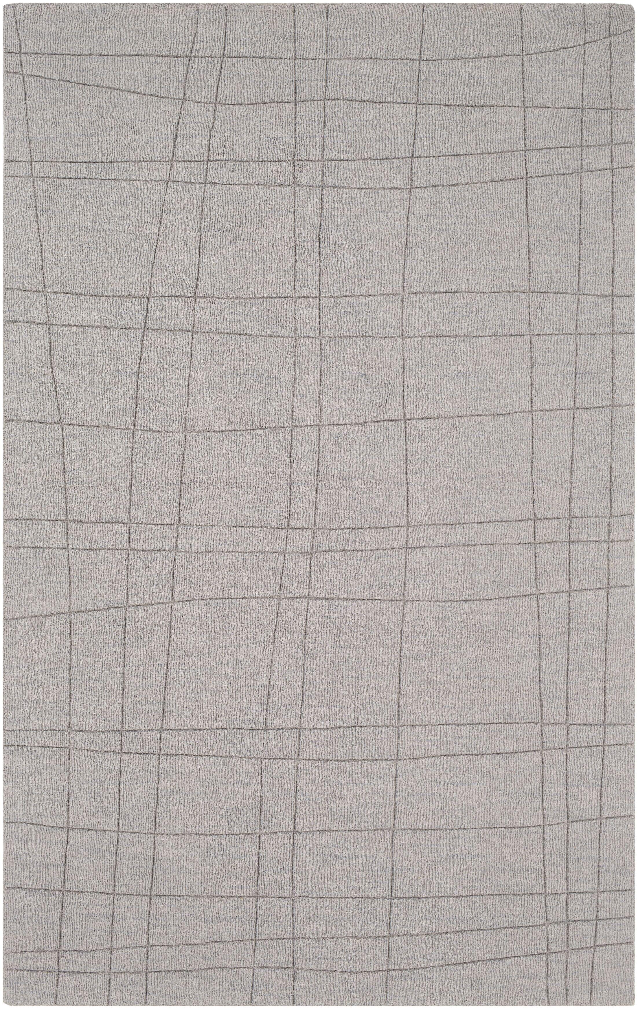 Ogilvie Hand-Woven Wool Gray Area Rug Rug Size: Rectangle 8' x 11'