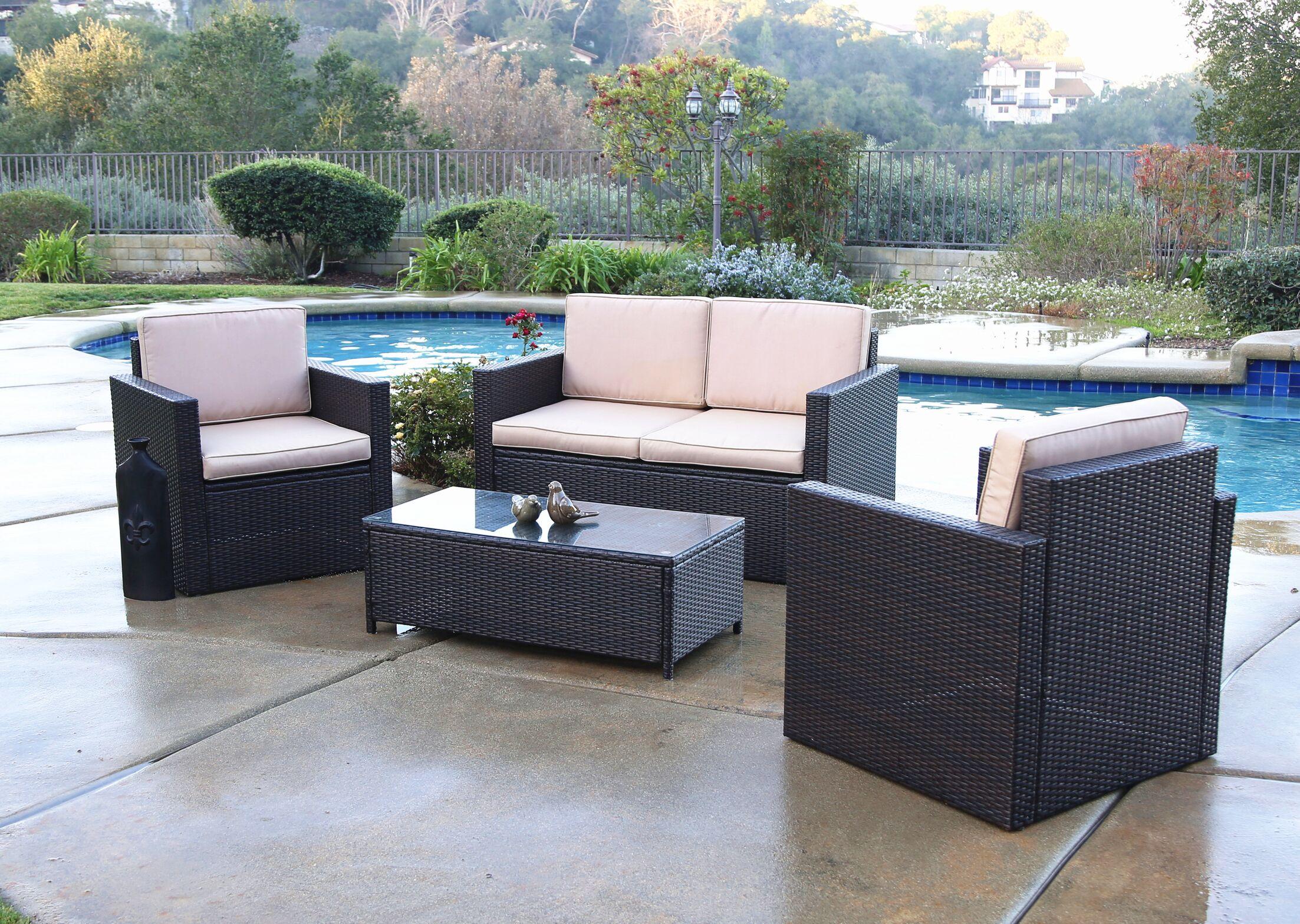 Blazer 4 Piece Sofa Set with Cushions