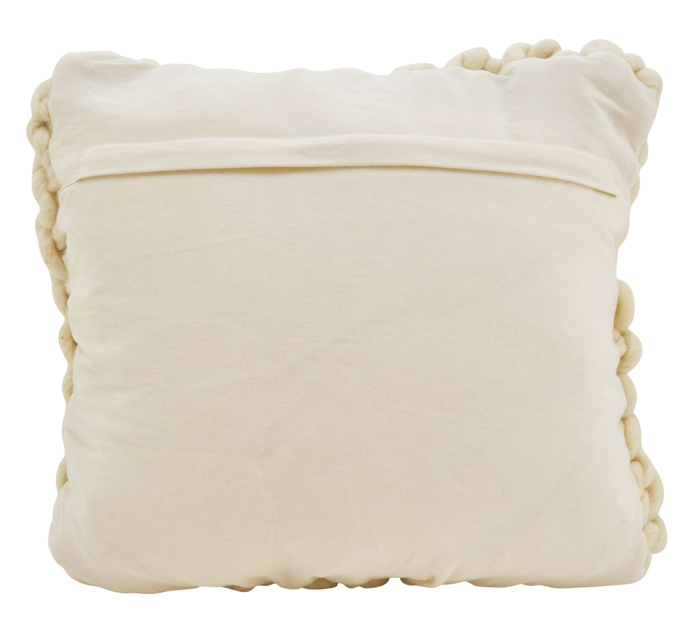 Boykins Chunky Cable Knit Wool Throw Pillow Color: Ivory