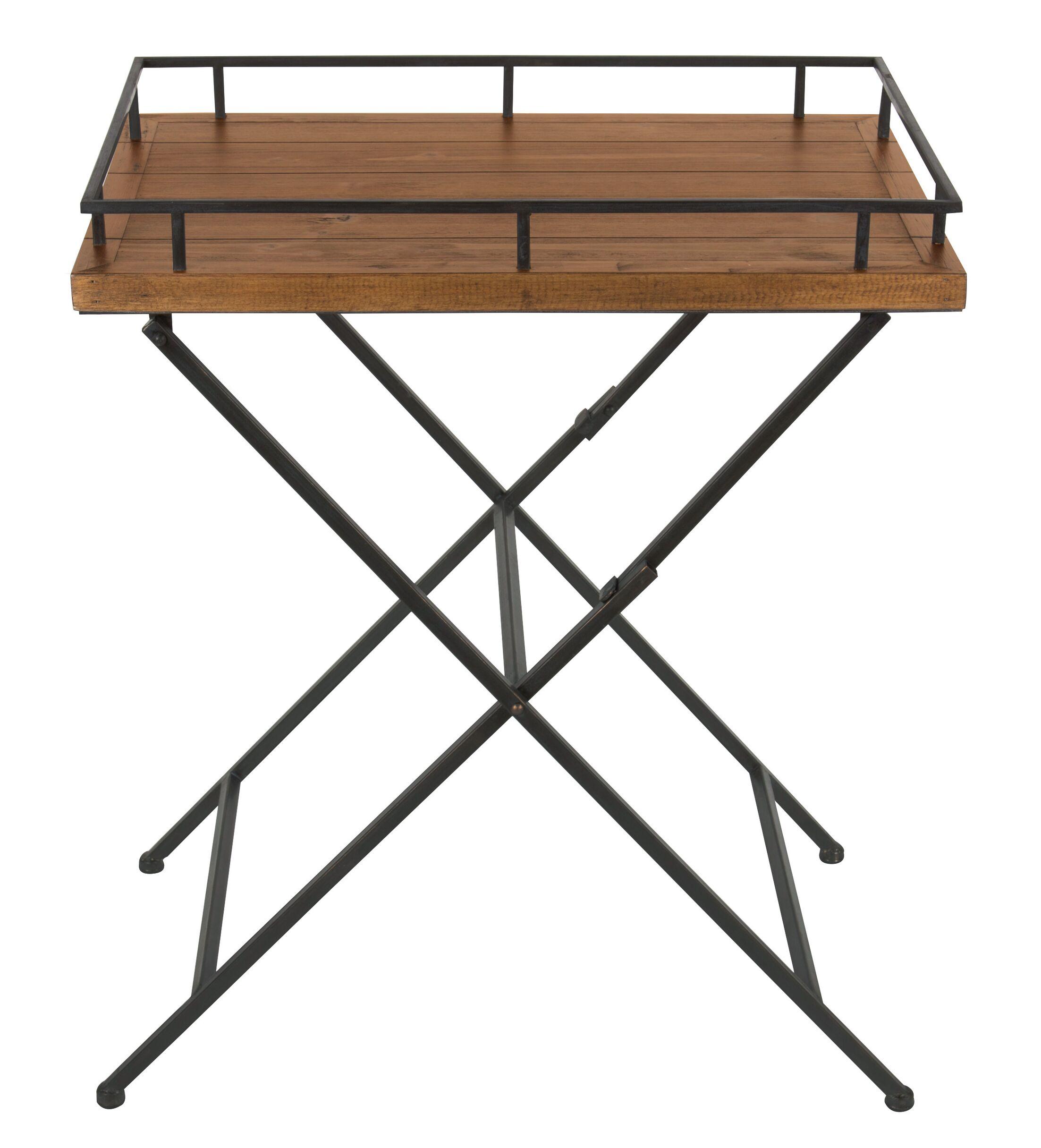 Jordan Wood and Metal Pop up Tray Table
