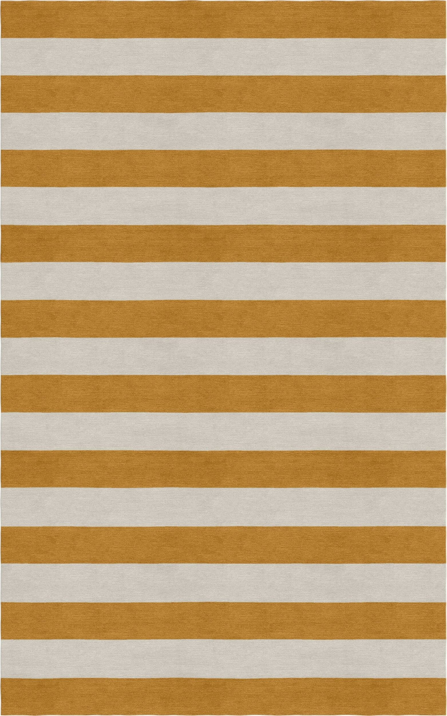 Mcleroy Stripe Hand-Woven Wool Silver/Light Brown Area Rug Rug Size: 9' x 12'