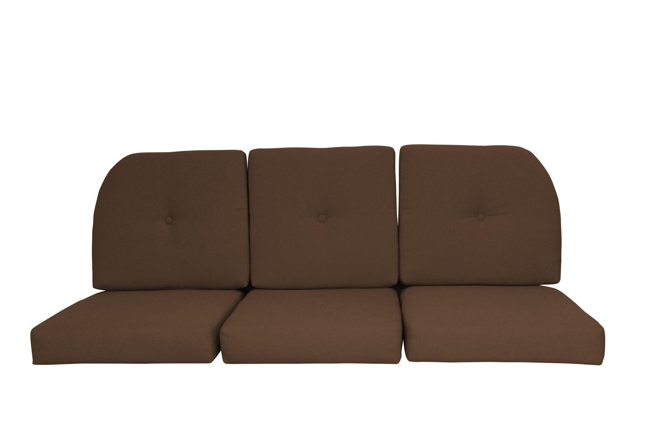 Wicker Indoor/Outdoor Sunbrella Sofa Cushion Fabric: Coffee
