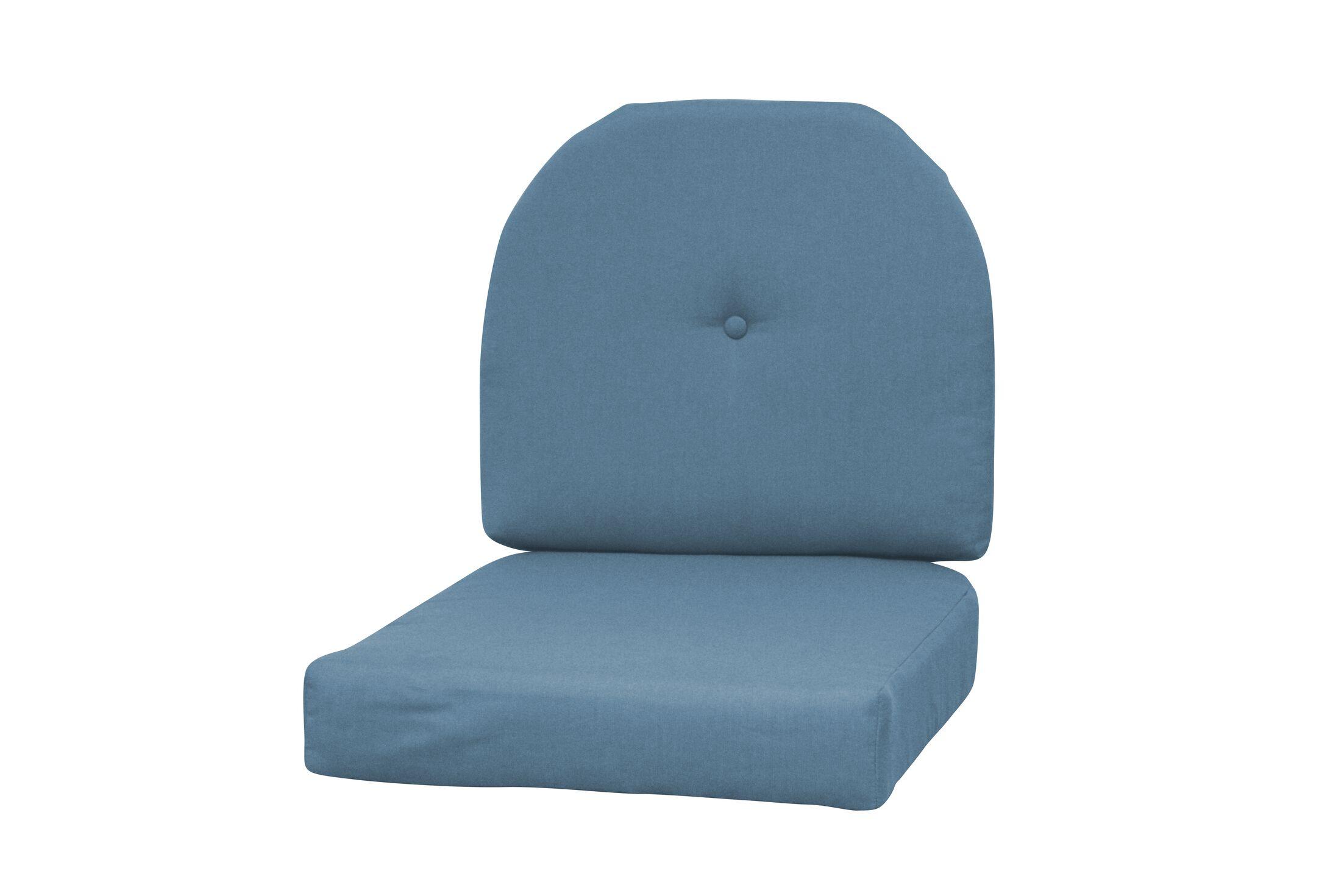 Wicker Indoor/Outdoor Sunbrella Rocking Chair Cushion Fabric: Denim