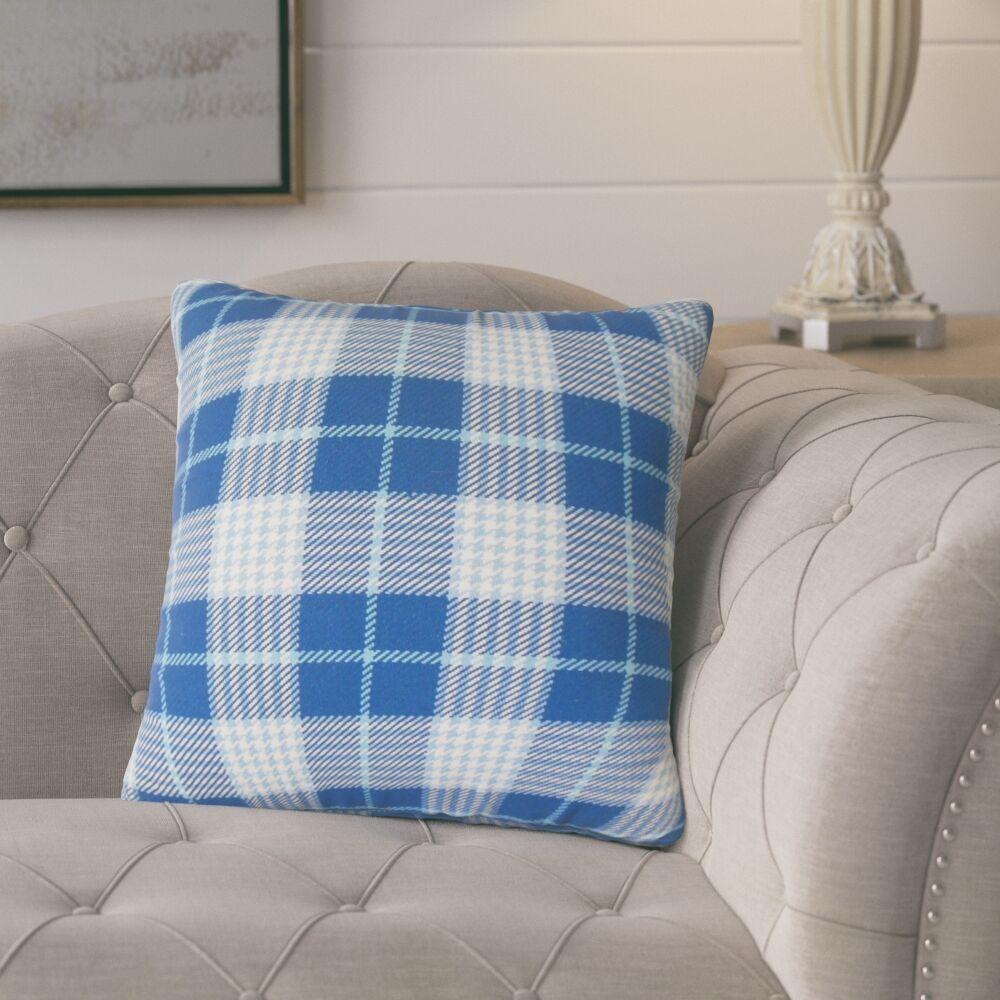 Datro Plaid Down Filled 100% Cotton Throw Pillow Size: 20