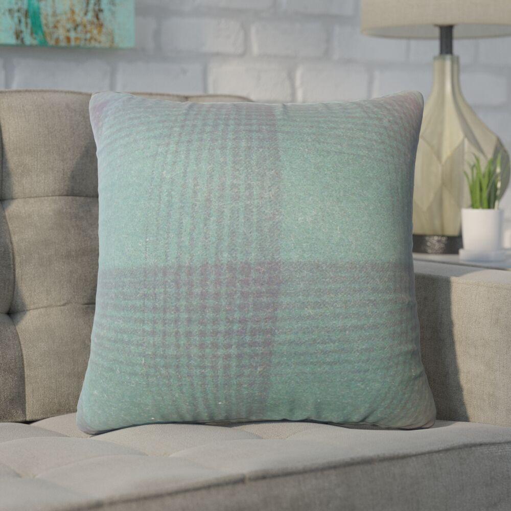 Wigginton Plaid Down Filled Velvet Throw Pillow Size: 20