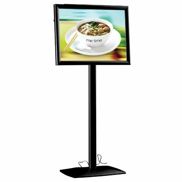 Flexible Sign Holder with LED Box Size: 19.25
