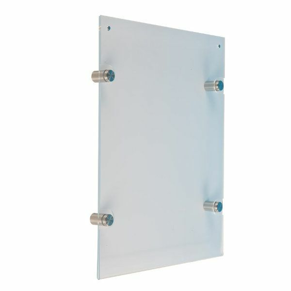 Wall Mount Clear Acrylic Sign Holder Size: 30.36