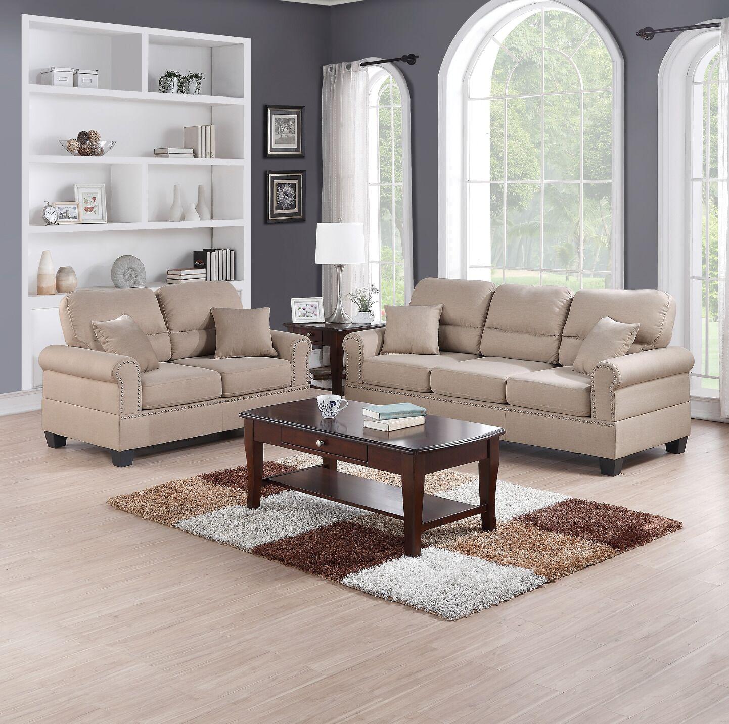 Jablonski 2 Piece Living Room Set Upholstery: Sand