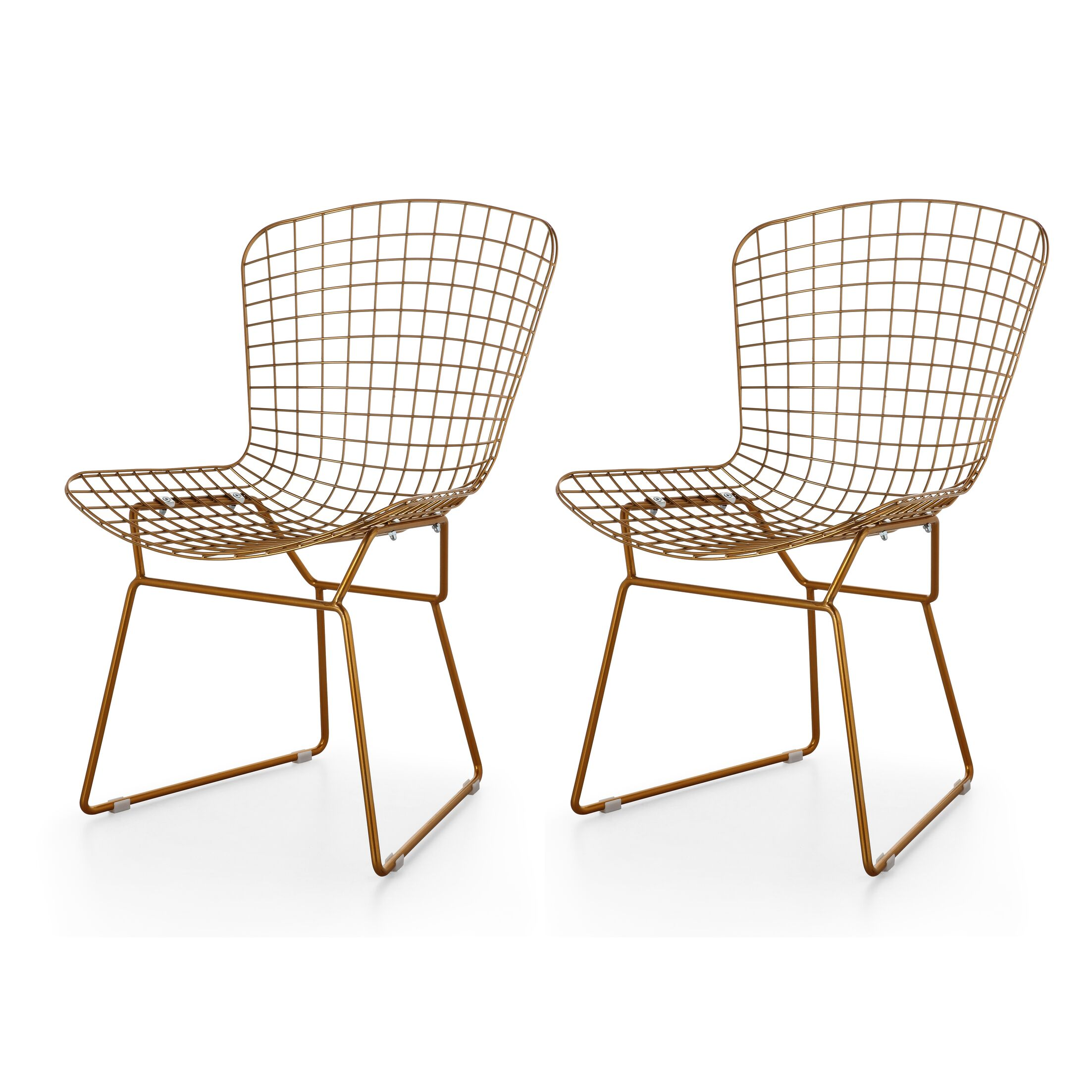 M38 Wire Side Chair Upholstery: Gold