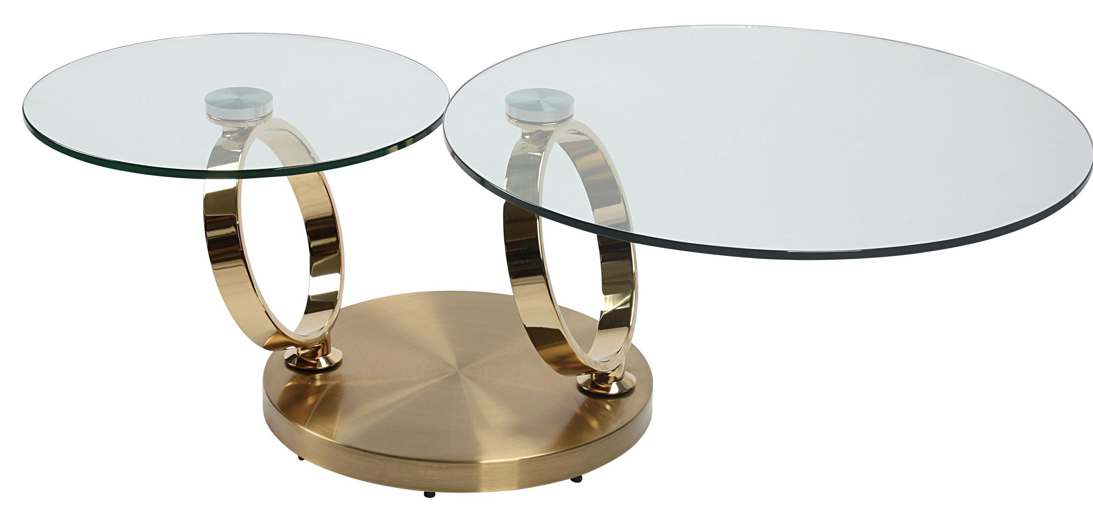 Motion Coffee Table Table Base Color: Gold