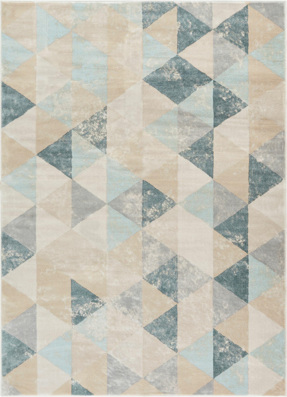 Aya Geometric Nordic Cream Area Rug Rug Size: Rectangle 7'10'' x 10'6