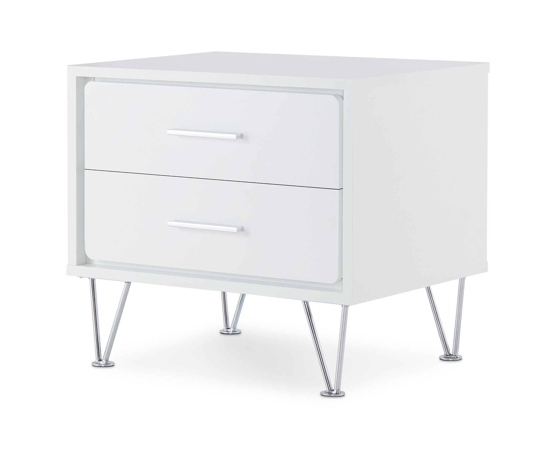 Oakman 2 Drawer Nightstand Color: White
