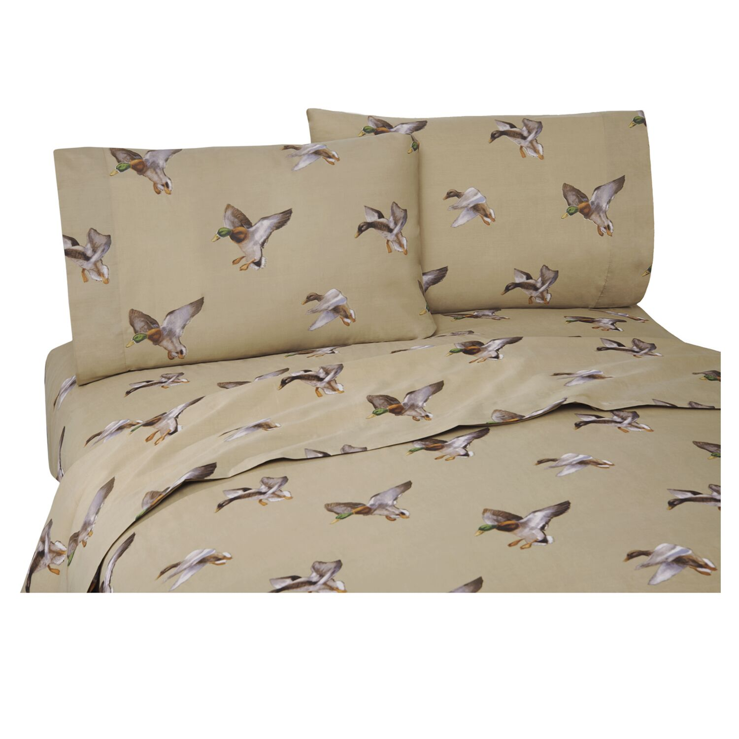 Romer Duck Approach 200 Thread Count Percale Sheet Set Size: King