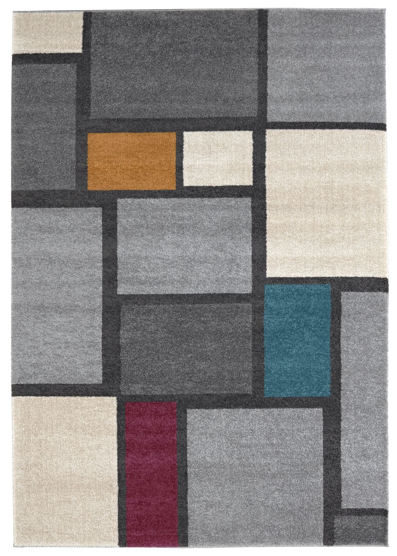 Maly Gray/Ivory Area Rug Rug Size: Rectangle 7'10