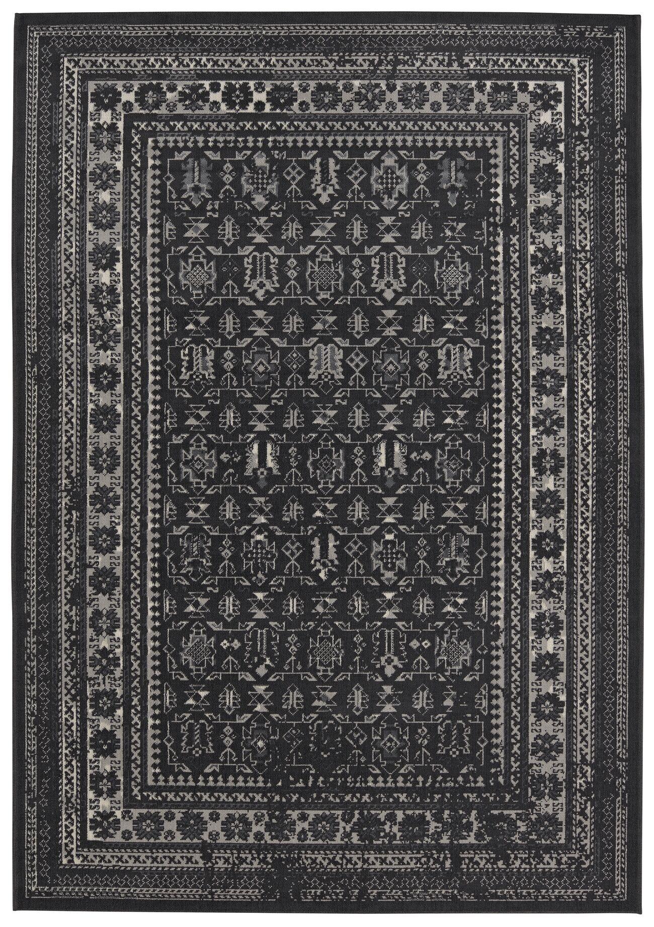 Gildea Black Area Rug Rug Size: Rectangle 7'10