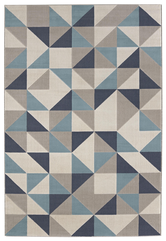 Malmberg Blue/Gray Area Rug Rug Size: Rectangle 7'10