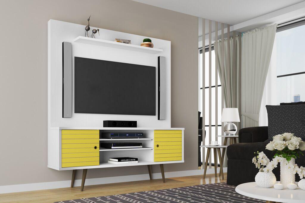 Lewis Entertainment Center Color: White/Yellow