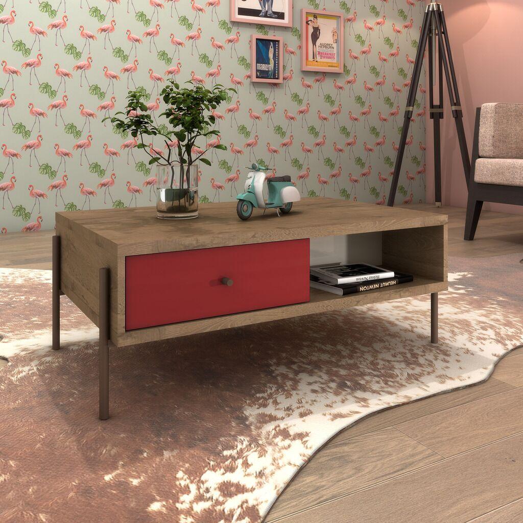 Armando Coffee Table Color: Red