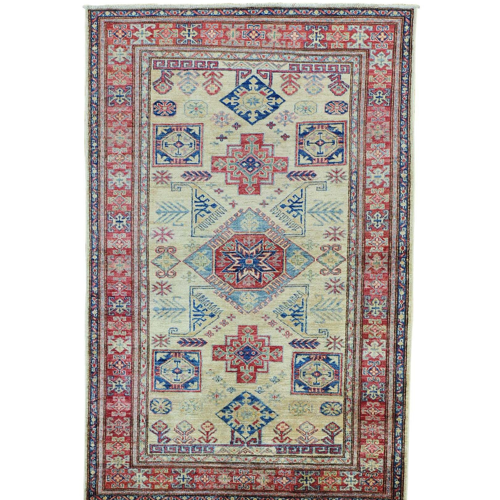 One-of-a-Kind Tillett Super Hand-Knotted Beige Area Rug