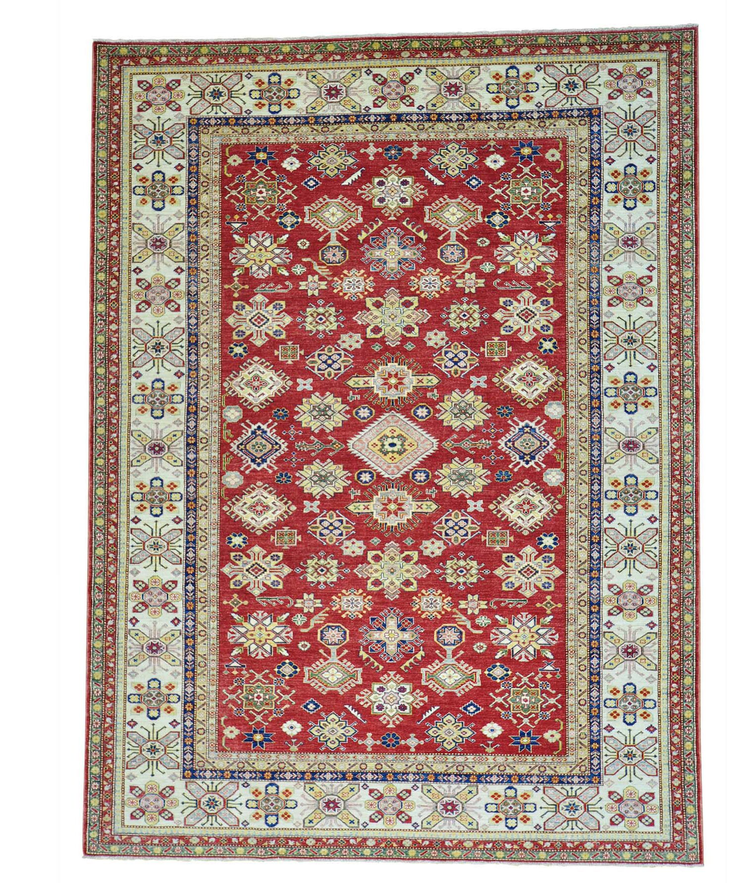 One-of-a-Kind Kempinski Overdyed Hamadan Worn Hand-Knotted Red/Yellow Area Rug