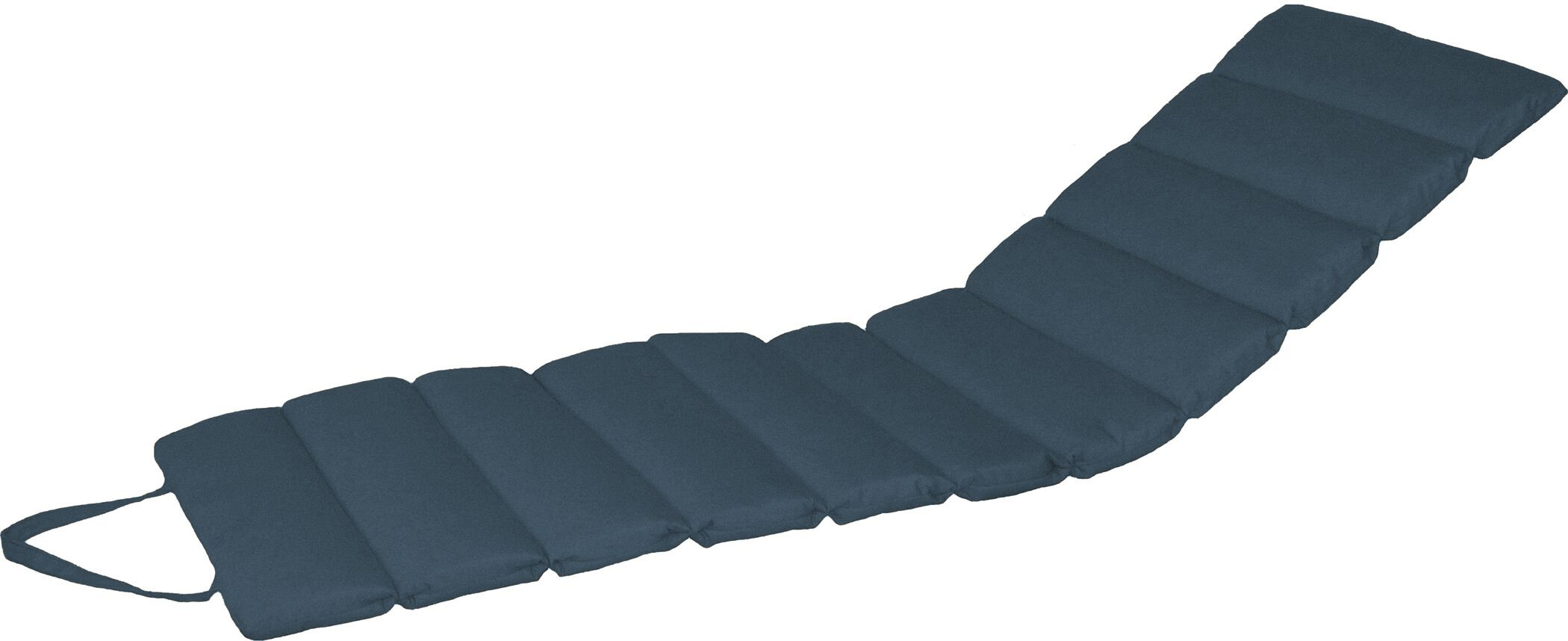 Channeled Indoor/Outdoor Sunbrella Chaise Lounge Cushion Fabric: Indigo