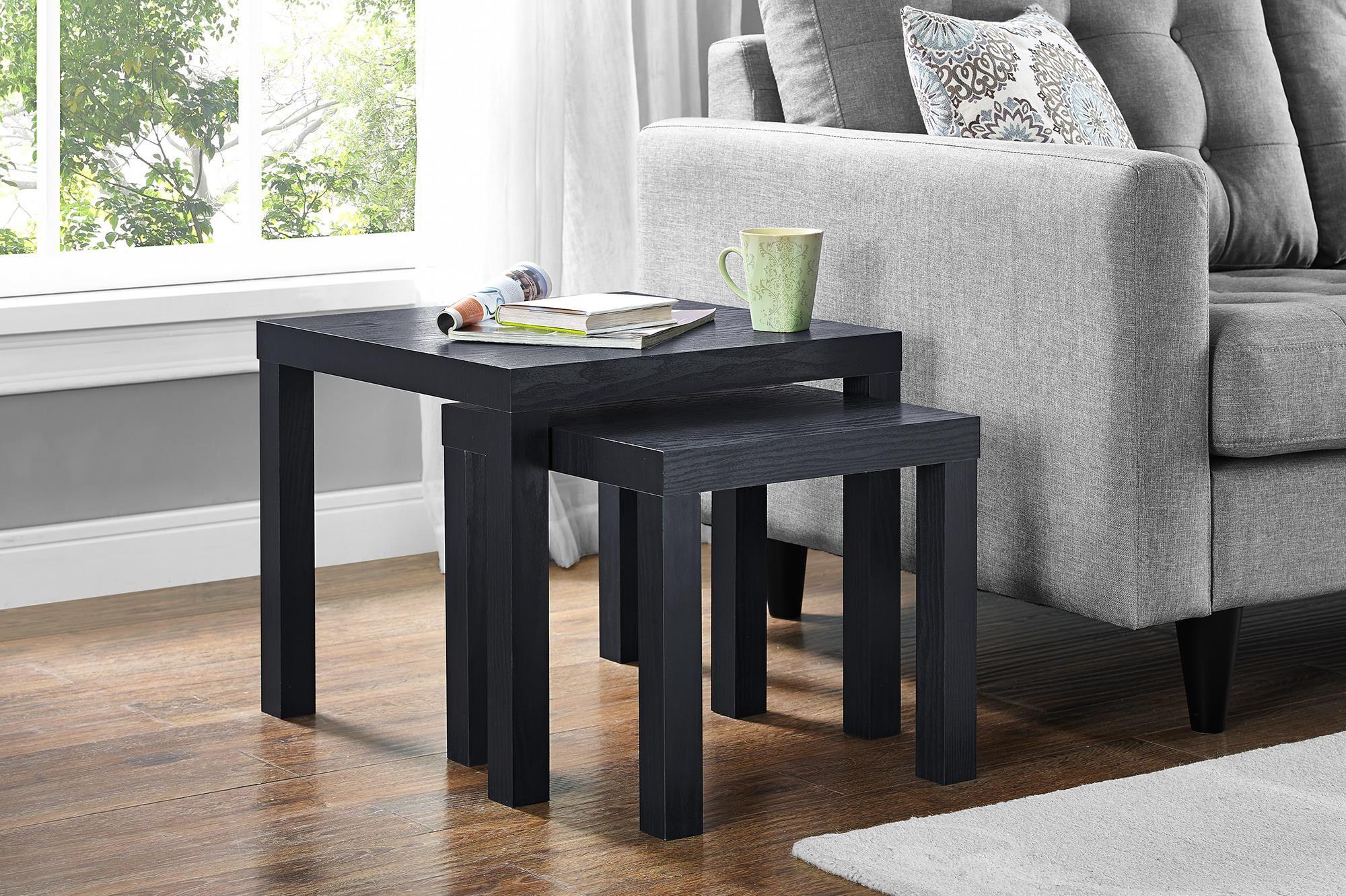 Celie 2 Piece Nesting Tables Color: Black Oak