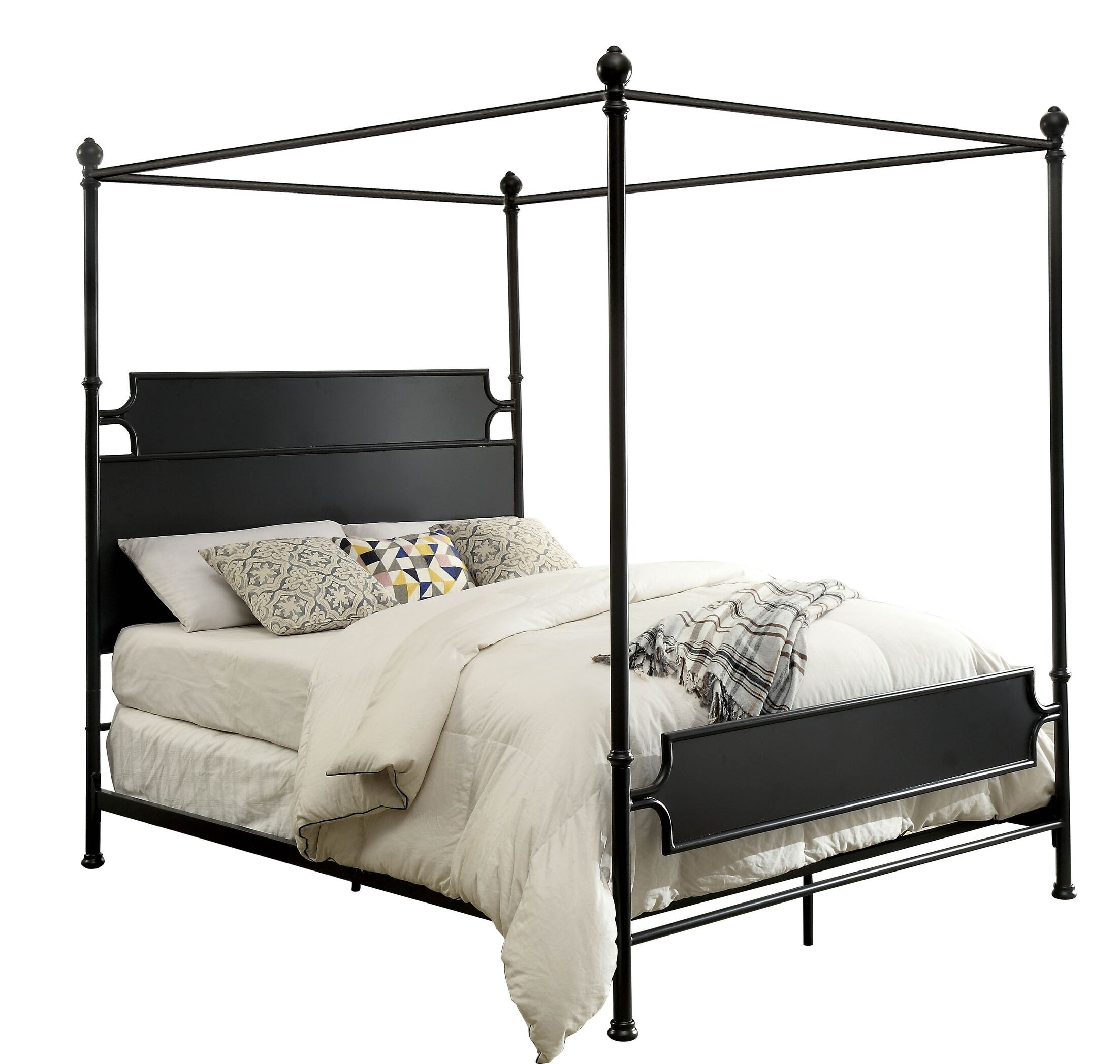Klaus Canopy Bed Color: Brown, Size: California King