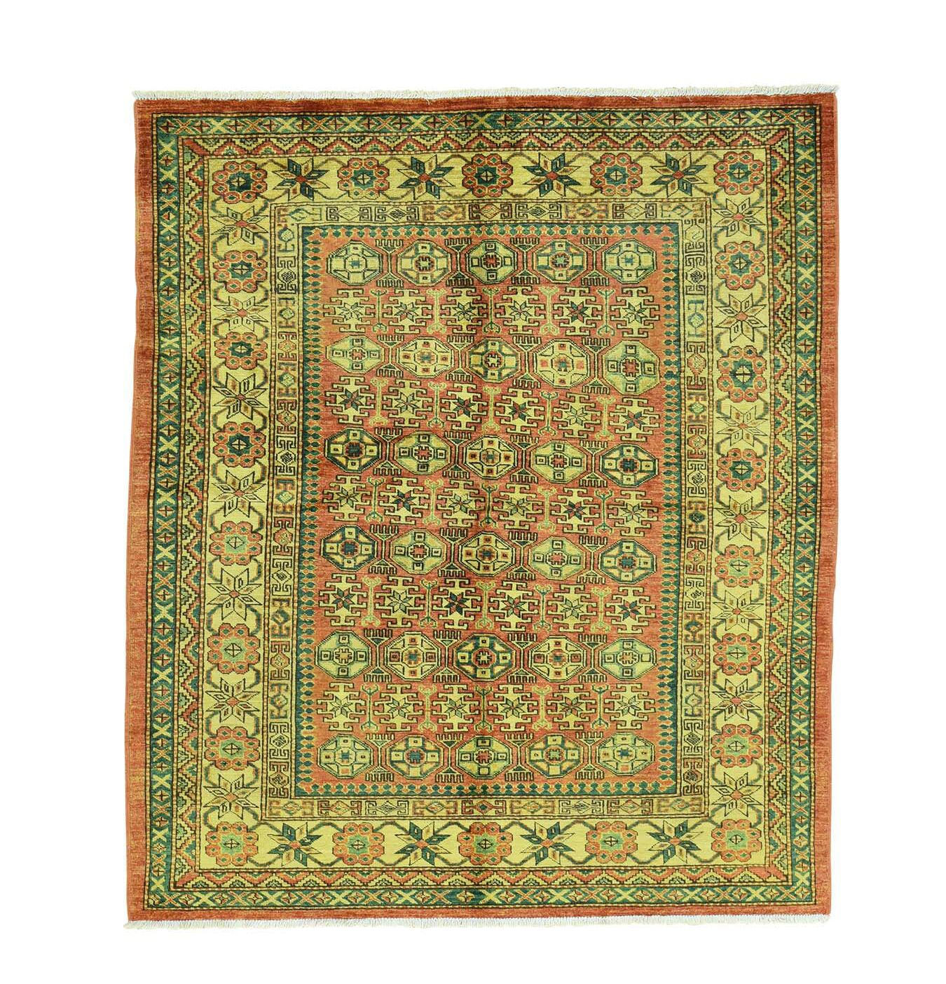 One-of-a-Kind Tillett Super Caucasian Hand-Knotted Red Area Rug